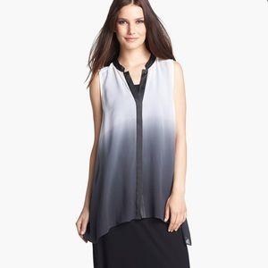 Eileen Fisher silk ombré tunic, sleeveless